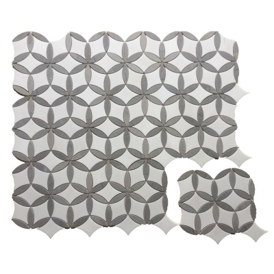 Cinderella Grey and Jazz White Marble Mosaic