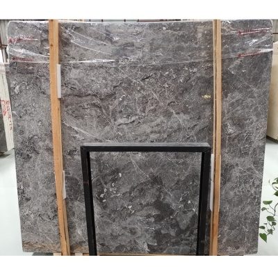 China Hermes Grey Marble Slab