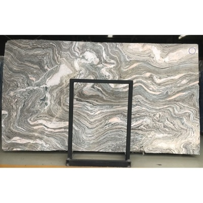 Grey Cloudy Wave Marble