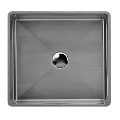 Black square sink stainless steel top mount