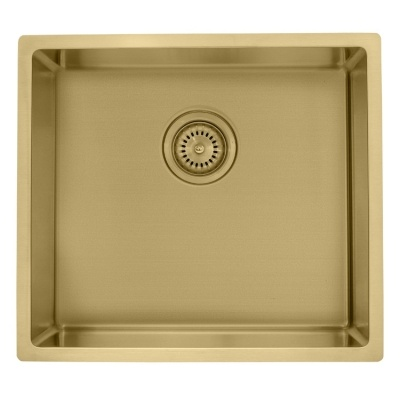Single bowl undermount gold sink
