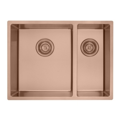 Rose gold double kitchen sink