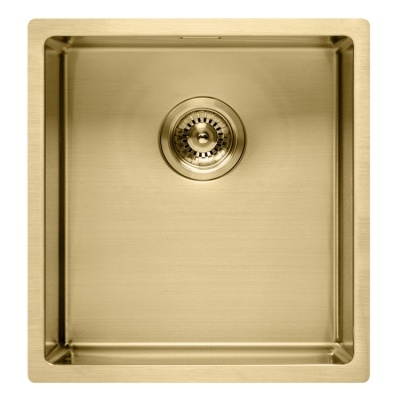 Light gold kitchen sink radius 10, 16gauge stainless steel sink