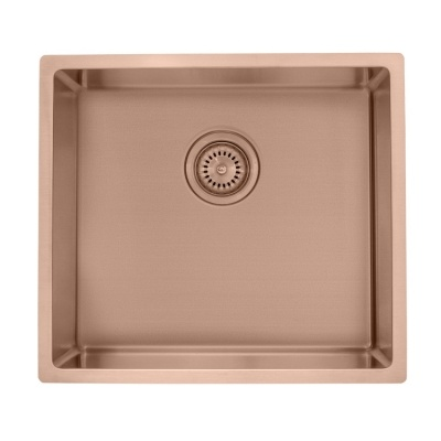 Handcrafted single bowl sink undermount rose gold