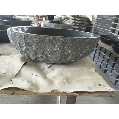 Cheap Grey Granite Sink,Outdoor Stone Sink,Chiseled Apron Exterior